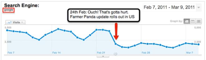 google analytics panda update